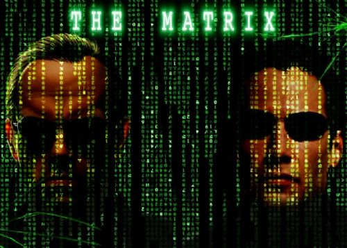1990's Movie - THE MATRIX - NEO AND SMITH ART canvas print - self adhesive poster - photo print